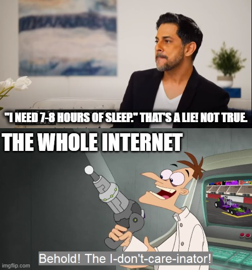 "MindValley ads vs the Internet |  ""I NEED 7-8 HOURS OF SLEEP."" THAT'S A LIE! NOT TRUE. THE WHOLE INTERNET 