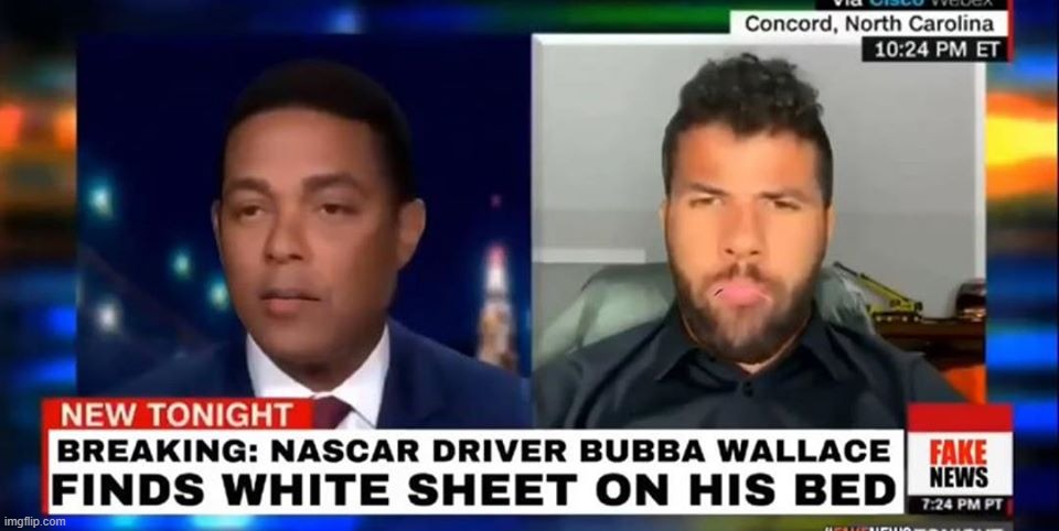 Bubba Wallace | image tagged in funny,hoax,nascar,bubba | made w/ Imgflip meme maker