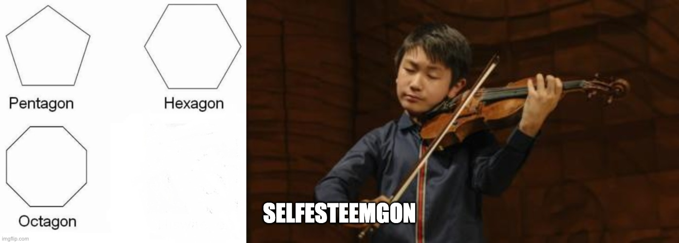 Only TwoSet fans will understand/ |  SELFESTEEMGON | image tagged in memes,pentagon hexagon octagon,lingling40hrs | made w/ Imgflip meme maker