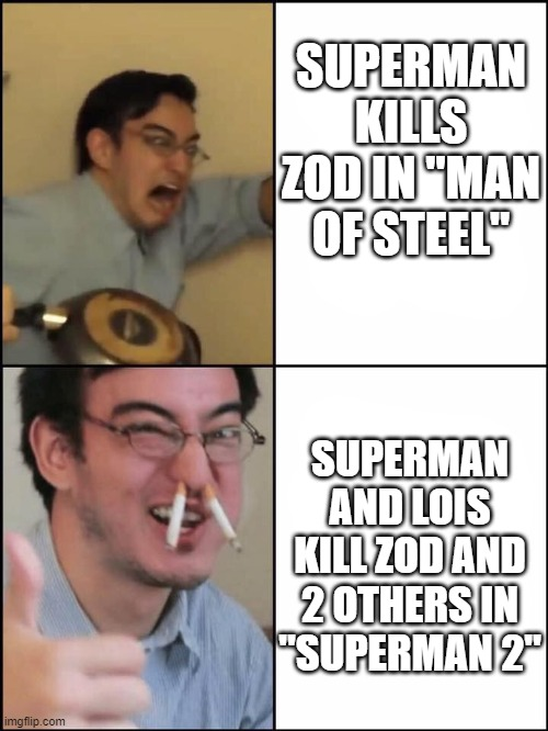 "Superman 2 v Man of Steel |  SUPERMAN KILLS ZOD IN ""MAN OF STEEL""; SUPERMAN AND LOIS KILL ZOD AND 2 OTHERS IN ""SUPERMAN 2"" 