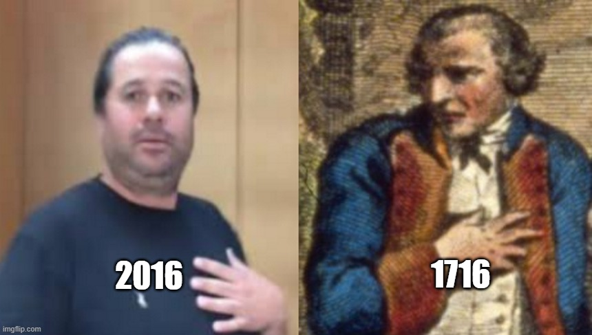 hugh mungus 1716 |  1716; 2016 | image tagged in hugh mungus 1716,hugh mungus | made w/ Imgflip meme maker