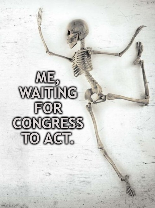 waiting for congress |  ME, WAITING FOR CONGRESS TO ACT. | image tagged in politics,congress,waiting,trump | made w/ Imgflip meme maker