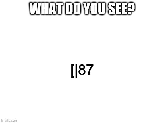 What is it? |  WHAT DO YOU SEE? [|87 | image tagged in blank white template,plague doctor,what is it | made w/ Imgflip meme maker