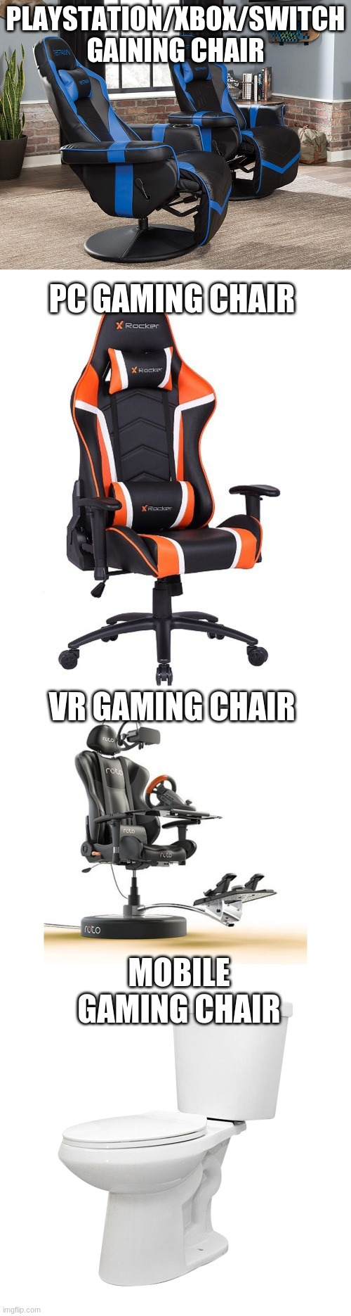It do be hitting different doe |  PLAYSTATION/XBOX/SWITCH GAINING CHAIR; PC GAMING CHAIR; VR GAMING CHAIR; MOBILE GAMING CHAIR | image tagged in gaming,and now for something completely different | made w/ Imgflip meme maker