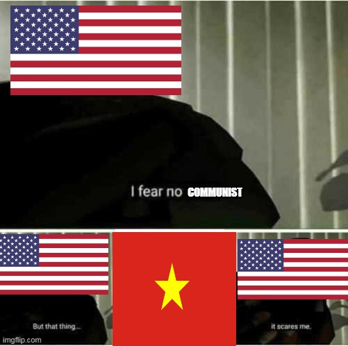 I fear no man |  COMMUNIST | image tagged in i fear no man | made w/ Imgflip meme maker
