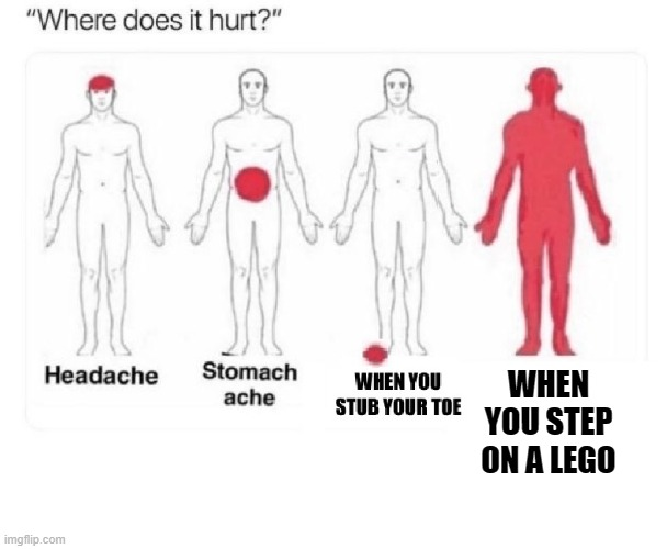 WHEN YOU STEP ON A LEGO | made w/ Imgflip meme maker