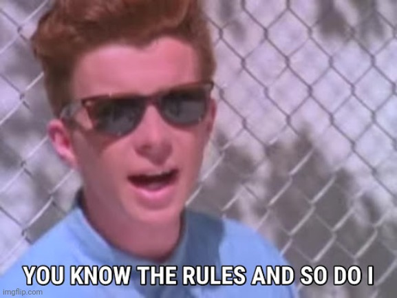 Rick astley you know the rules | image tagged in rick astley you know the rules | made w/ Imgflip meme maker