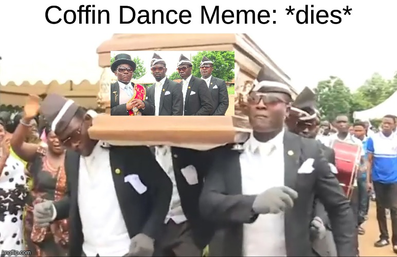 Has this been before? Or has it really died yet? |  Coffin Dance Meme: *dies* | image tagged in coffin dance,meme,die,dead,dead memes,russia | made w/ Imgflip meme maker