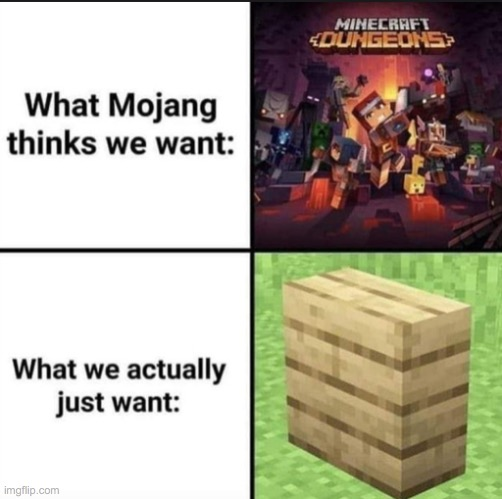 Why haven't we got vertical half slabs yet? | image tagged in memes,minecraft,funny,pandaboyplaysyt | made w/ Imgflip meme maker