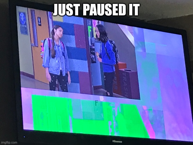 JUST PAUSED IT | image tagged in paused,bizzardvark,just paused | made w/ Imgflip meme maker