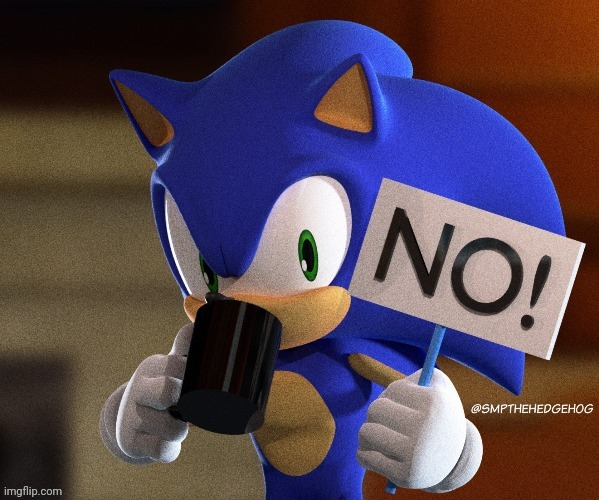 I made a new meme template and you can use it any time | image tagged in sonic no sign,sonic,no,memes | made w/ Imgflip meme maker