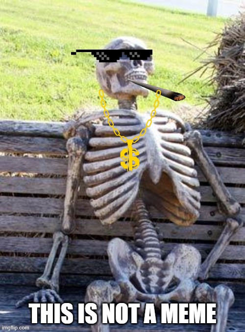 Waiting Skeleton Meme |  THIS IS NOT A MEME | image tagged in memes,waiting skeleton | made w/ Imgflip meme maker