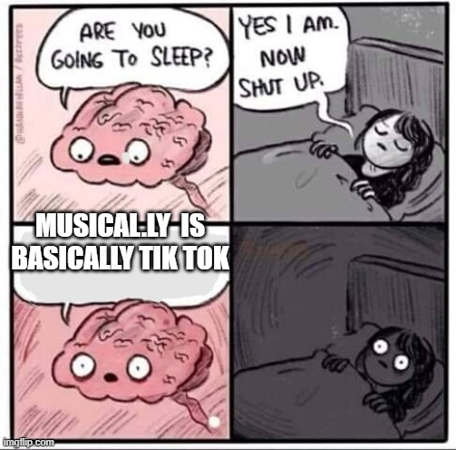 Are you going to sleep? |  MUSICAL.LY  IS BASICALLY TIK TOK | image tagged in are you going to sleep | made w/ Imgflip meme maker