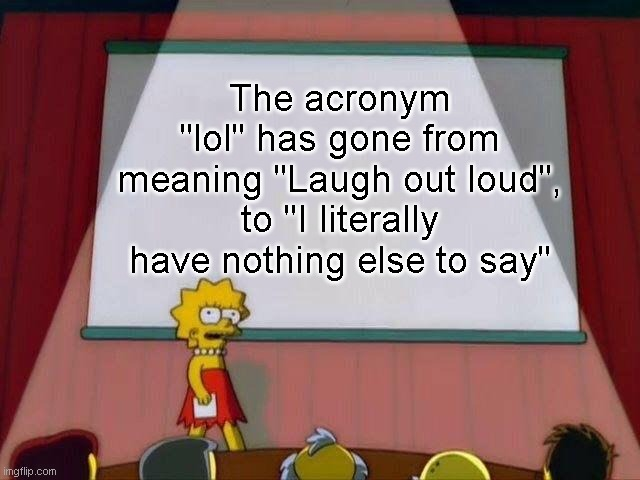 "The meaning of ""Lol"" 