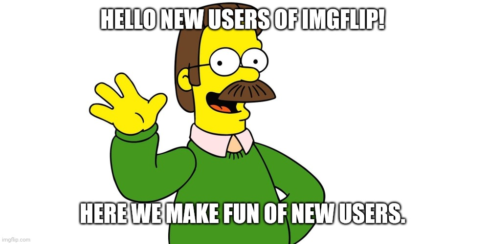 "Dont worry new users. Just dont sticker spam and your not a ""New user"". 