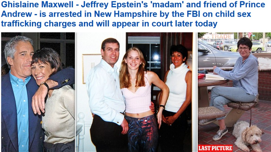 Ghislane Maxwell Arrested: Will she be the next 'Arkancide' victim? | image tagged in jeffrey epstein,epstein,epstein island,pedophile island,prince andrew,bill clinton | made w/ Imgflip meme maker