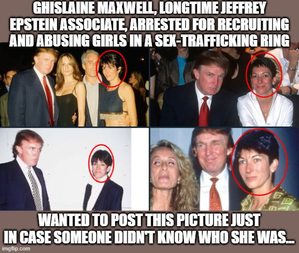 Image tagged in donald trump,jeffrey epstein,ghislaine maxwell,sex ...