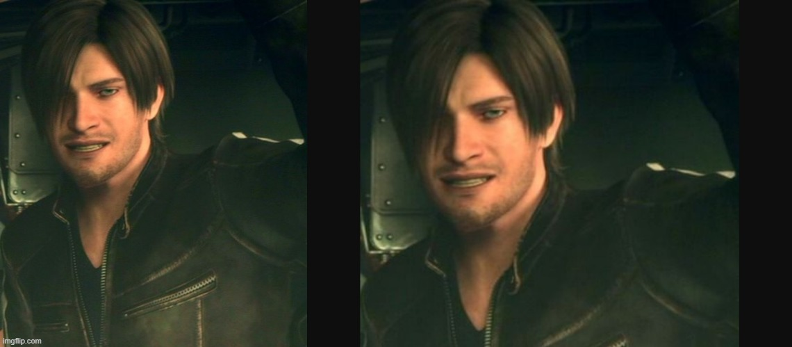 Leon Scott Kennedy It Would Be Shame | image tagged in resident evil,leon scott kennedy,it would be a shame | made w/ Imgflip meme maker
