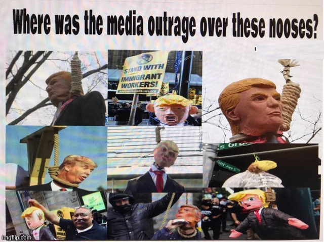 Where Was The Media Outrage? | image tagged in noose,liberal hypocrisy,mainstream media,antifa,george soros | made w/ Imgflip meme maker