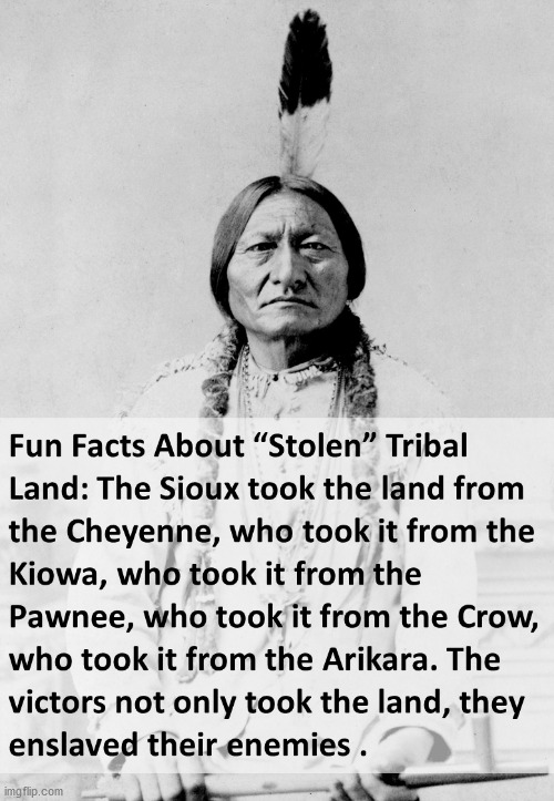 Who stole from who? | image tagged in native american,history,truth | made w/ Imgflip meme maker