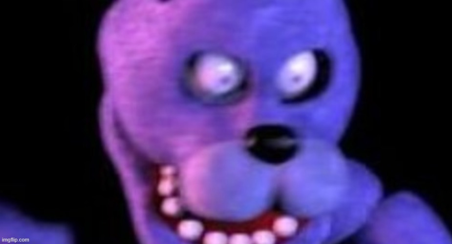 Scared Bonnie | image tagged in scared bonnie | made w/ Imgflip meme maker