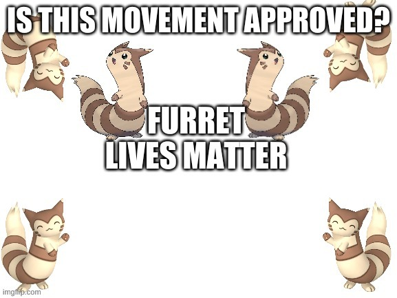 #FLM |  IS THIS MOVEMENT APPROVED? | image tagged in furret lives matter | made w/ Imgflip meme maker