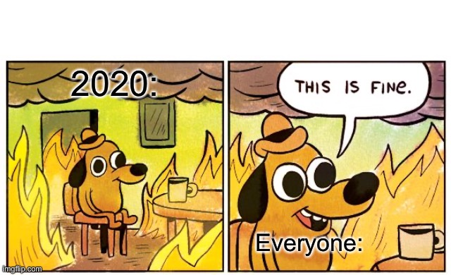 2020 will only get worse |  2020:; Everyone: | image tagged in memes,this is fine,2020,fire,somethings wrong | made w/ Imgflip meme maker
