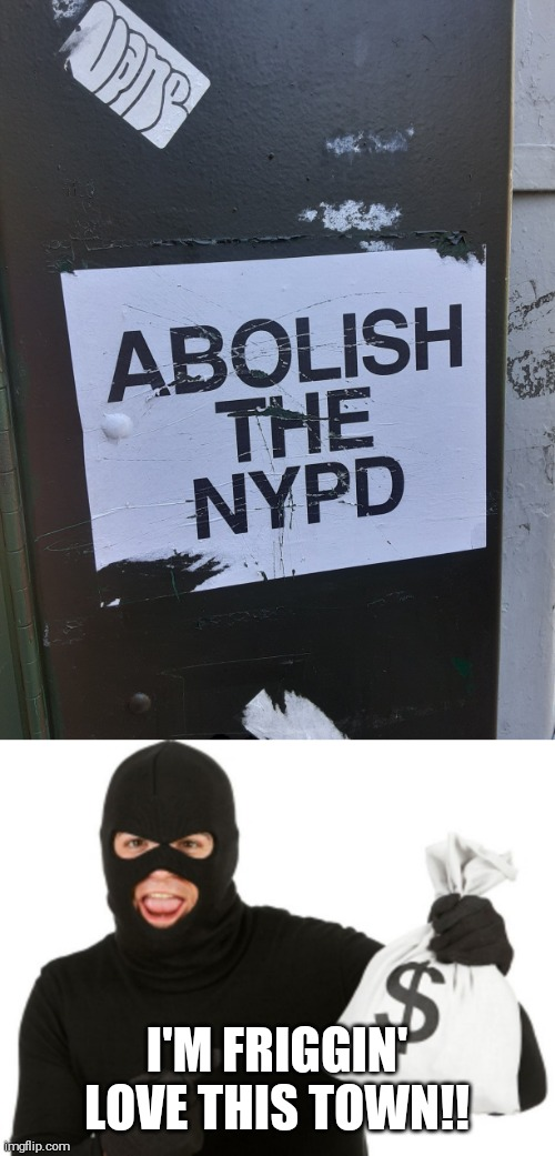 Your wish is granted |  I'M FRIGGIN' LOVE THIS TOWN!! | image tagged in nyc,memes,police,funny | made w/ Imgflip meme maker
