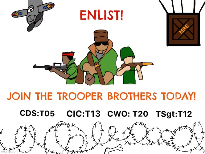 ENLIST! | image tagged in join me | made w/ Imgflip meme maker