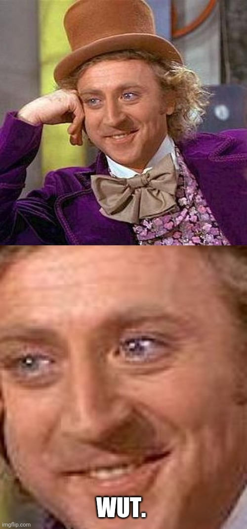 WUT. | image tagged in memes,creepy condescending wonka | made w/ Imgflip meme maker