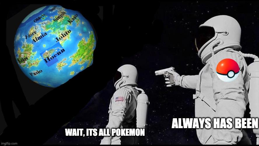 Astronaut with gun pokemon meme - Imgflip