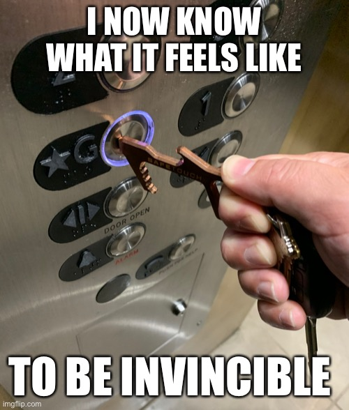 The New Normal |  I NOW KNOW WHAT IT FEELS LIKE; TO BE INVINCIBLE | image tagged in memes,funny,new normal,true story,thats really my hand | made w/ Imgflip meme maker