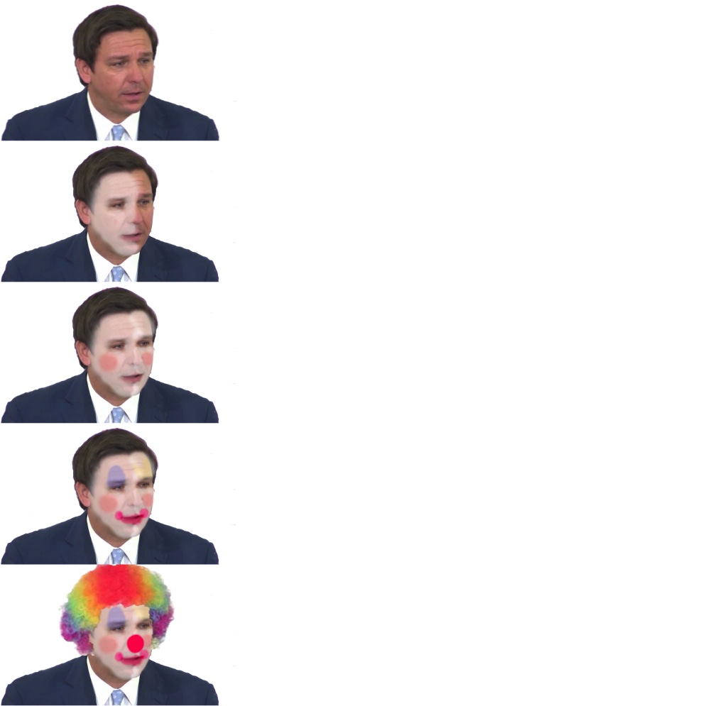 """governor"" DeSantis putting on clown makeup Blank Template ..."