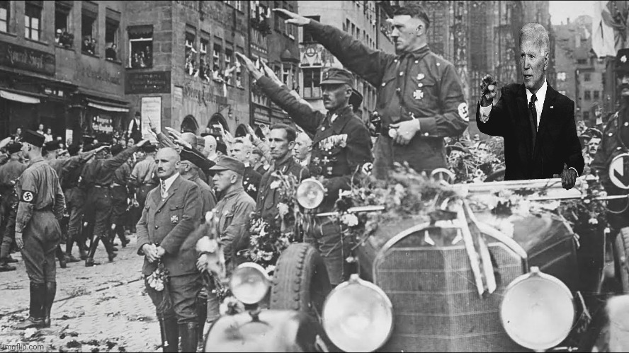 Biden at A Rally | image tagged in joe biden,biden,nazi,hitler | made w/ Imgflip meme maker