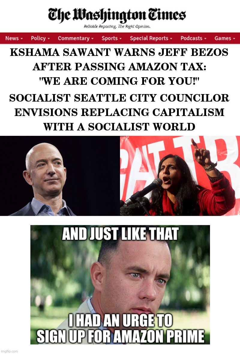 "Seattle Socialist Warns Jeff Bezos: ""We Are Coming For You!"" 