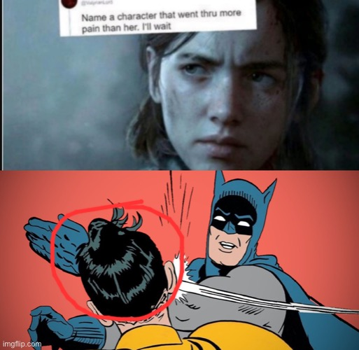 Poor robin | image tagged in name a character that went thru more pain her ill wait | made w/ Imgflip meme maker