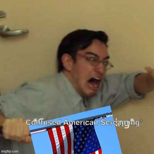 *Confused American Screaming* | made w/ Imgflip meme maker