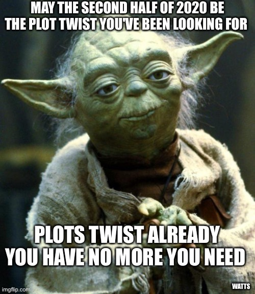 Plot Twist  Yoda | image tagged in plot twist,star wars yoda,2020,advice yoda | made w/ Imgflip meme maker