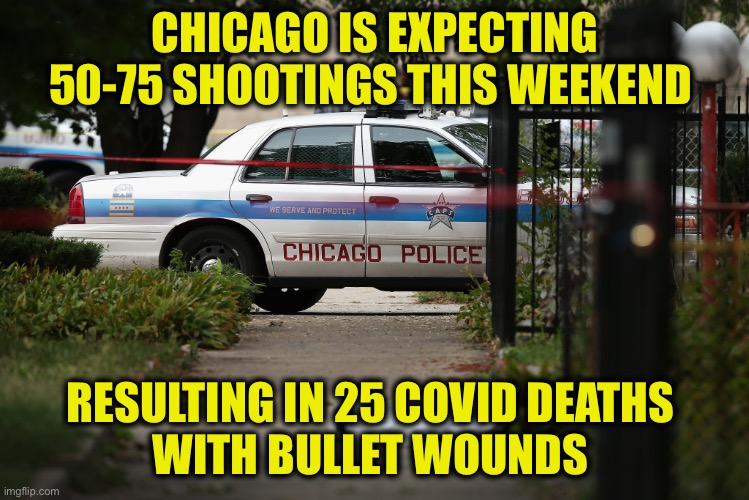 One hand washes the other |  CHICAGO IS EXPECTING 50-75 SHOOTINGS THIS WEEKEND; RESULTING IN 25 COVID DEATHS  WITH BULLET WOUNDS | image tagged in chicago gun control,covid-19 | made w/ Imgflip meme maker