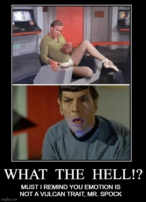 "James ""Legs"" Kirk Relaxing on the Deck of the Enterprise 