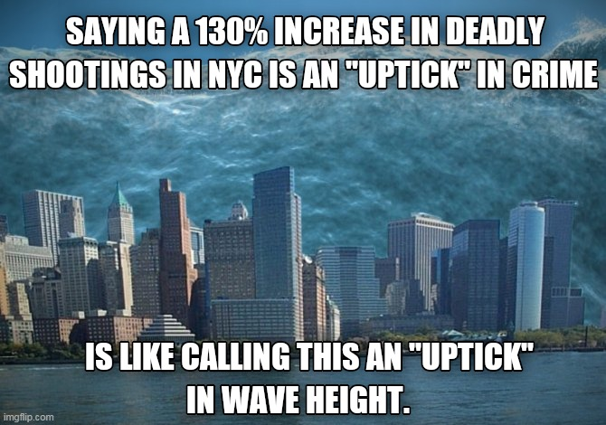 Crime Wave | image tagged in nyc,crime,uptick | made w/ Imgflip meme maker