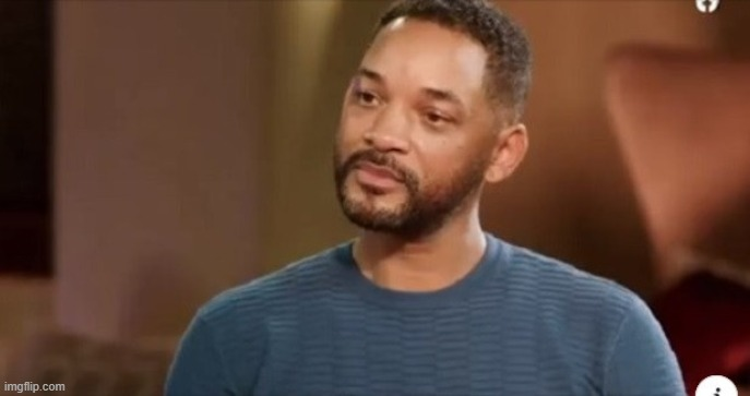 Sad Will Smith | image tagged in will smith,sad,interview,facebook | made w/ Imgflip meme maker