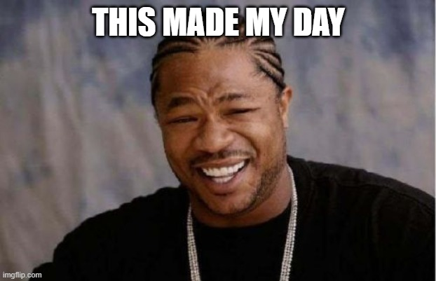 Yo Dawg Heard You Meme | THIS MADE MY DAY | image tagged in memes,yo dawg heard you | made w/ Imgflip meme maker