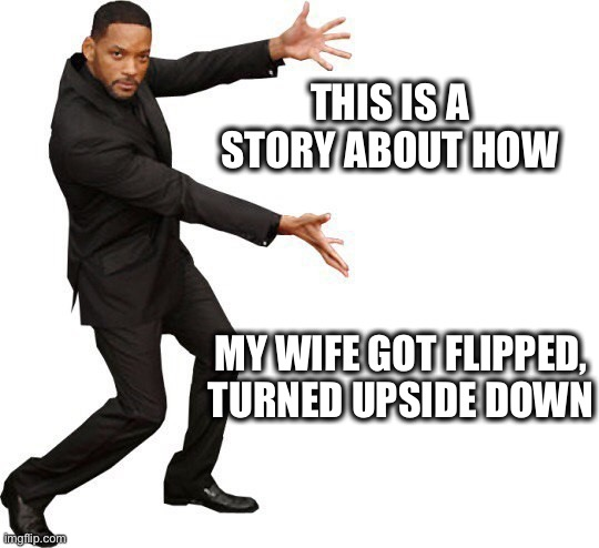 Will Smith in 2020 |  THIS IS A STORY ABOUT HOW; MY WIFE GOT FLIPPED, TURNED UPSIDE DOWN | image tagged in will smith,jada pinkett smith,fresh prince,cheating,affair,august alsina | made w/ Imgflip meme maker