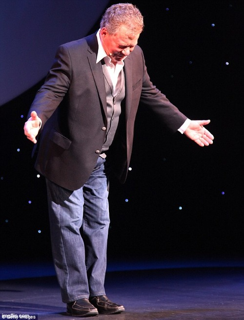 Shatner takes a bow | image tagged in shatner takes a bow | made w/ Imgflip meme maker