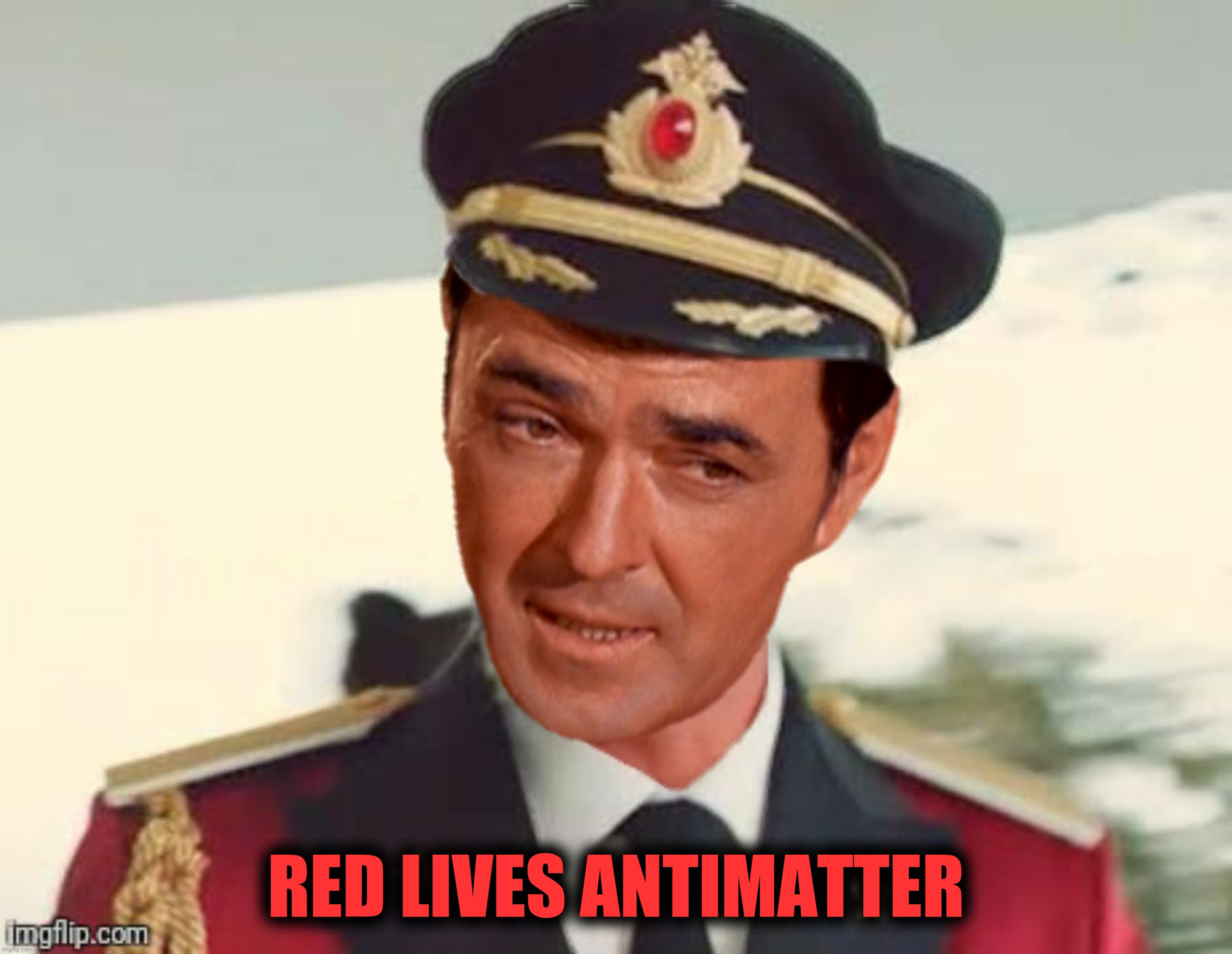 Bad Photoshop Sunday presents:  Chief Engineer Obvious |  RED LIVES ANTIMATTER | image tagged in bad photoshop sunday,scotty,captain obvious,star trek,red lives antimatter | made w/ Imgflip meme maker
