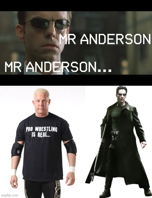 Mr Anderson Mr Anderson | image tagged in wrestling,neo,tna | made w/ Imgflip meme maker