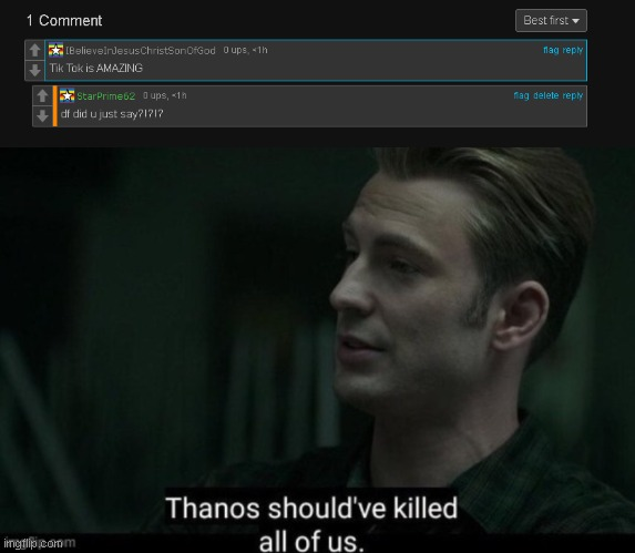 Look what this boy commeted on my meme | image tagged in tik tok,trash | made w/ Imgflip meme maker