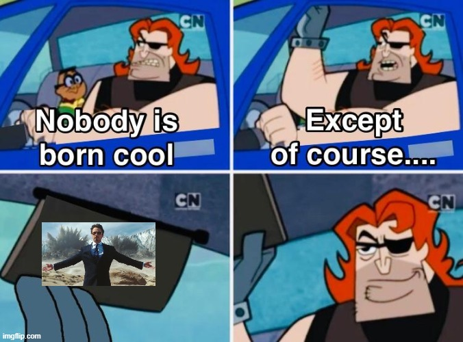 Nobody is born cool | image tagged in nobody is born cool | made w/ Imgflip meme maker