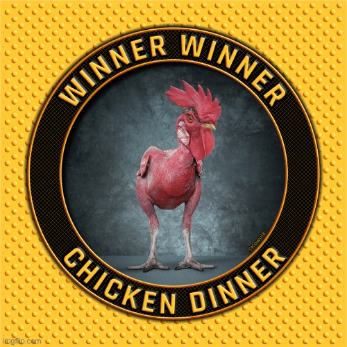 Winner Winner Chicken Dinner | image tagged in winner winner chicken dinner | made w/ Imgflip meme maker